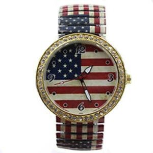 Vintage American Flag Stretch Band Watch Crystals